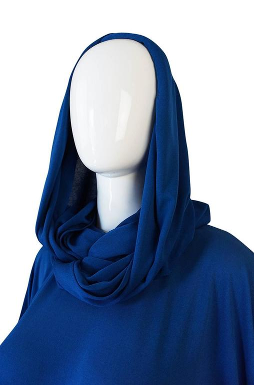 1980s OMO Norma Kamali Jersey Dramatic Sleeved Dress 9