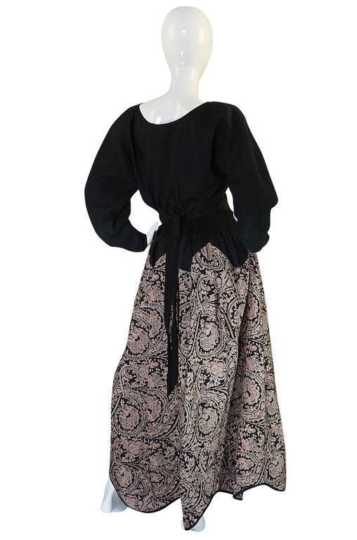 1980s Geoffrey Beene Full Scalloped Skirt & Top Set 2