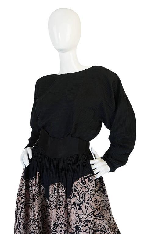 1980s Geoffrey Beene Full Scalloped Skirt & Top Set 5