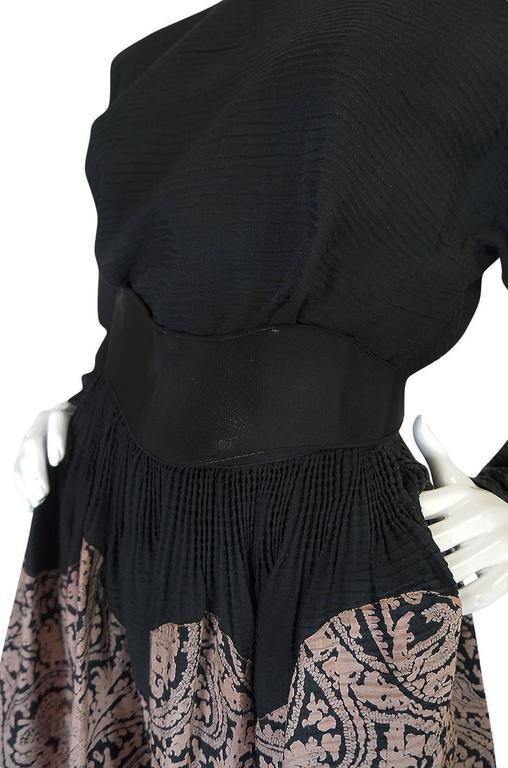 1980s Geoffrey Beene Full Scalloped Skirt & Top Set 7