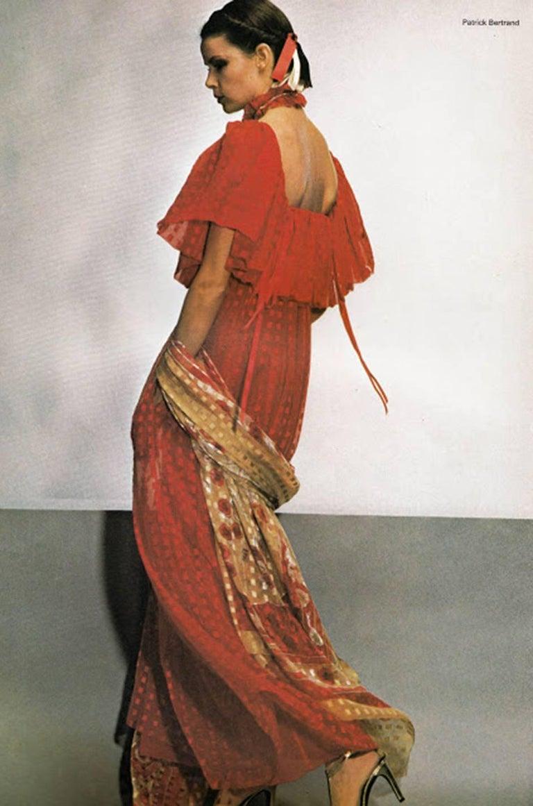 1978 Numbered Dior Patron Original Silk Dress Set 10