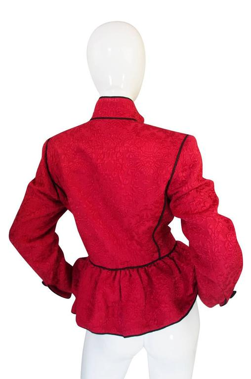 Documented F/W 1990-91 Yves Saint Laurent Red Jacket 3