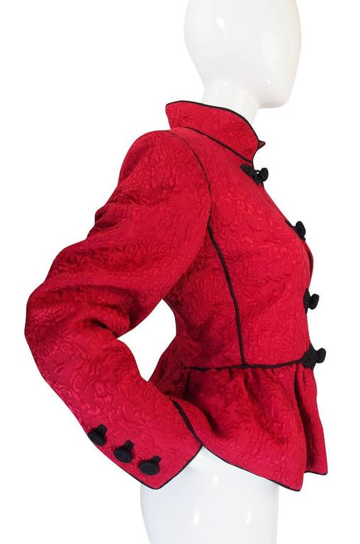 Documented F/W 1990-91 Yves Saint Laurent Red Jacket 4