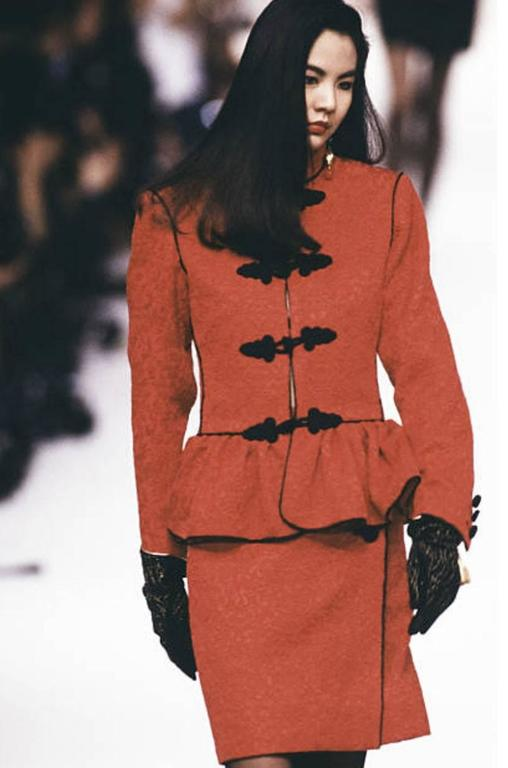 Documented F/W 1990-91 Yves Saint Laurent Red Jacket 8