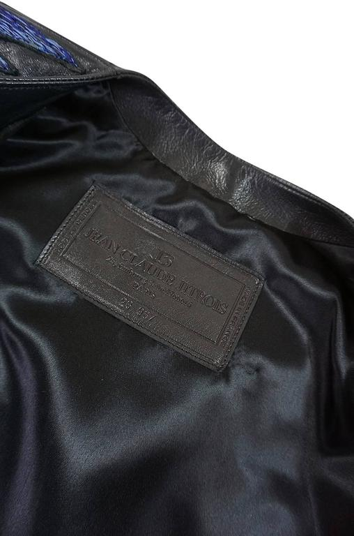1987 Jean-Claude Jitrois Lesage 3D Floral Leather Jacket For Sale 3