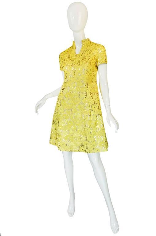 c.1968 Early Oscar de la Renta for Jane Derby Silk Dress 3