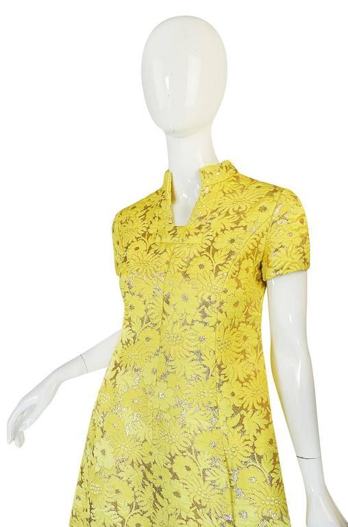 c.1968 Early Oscar de la Renta for Jane Derby Silk Dress 5