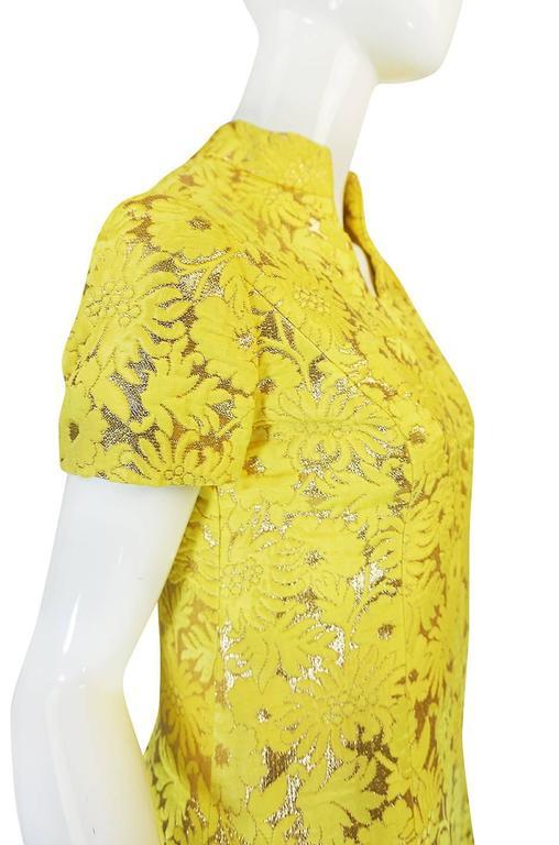 c.1968 Early Oscar de la Renta for Jane Derby Silk Dress 6