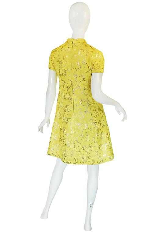 c.1968 Early Oscar de la Renta for Jane Derby Silk Dress 2