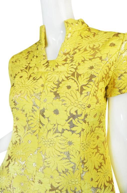 c.1968 Early Oscar de la Renta for Jane Derby Silk Dress 7