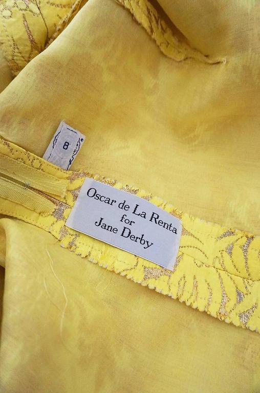 c.1968 Early Oscar de la Renta for Jane Derby Silk Dress 8