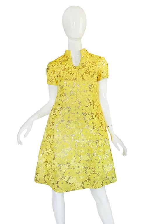 c.1968 Early Oscar de la Renta for Jane Derby Silk Dress 4