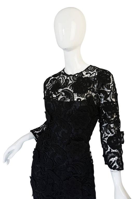 F/W 2008 Prada Runway Wait Listed Black Lace Dress For Sale 2