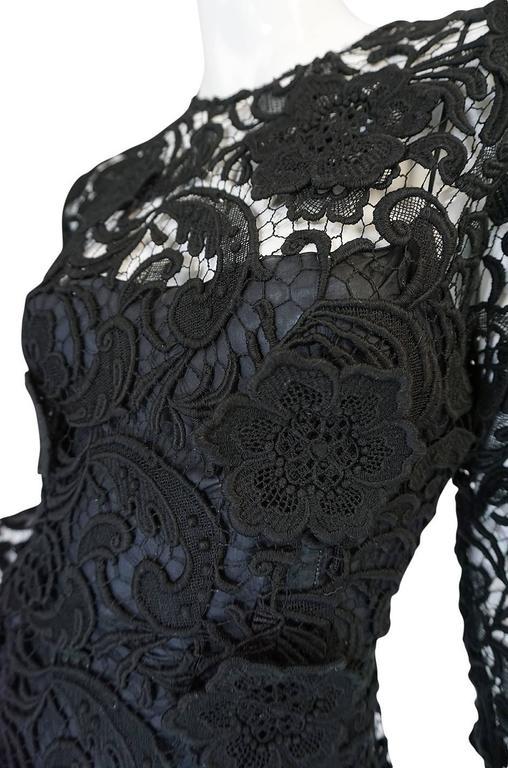 F/W 2008 Prada Runway Wait Listed Black Lace Dress For Sale 3