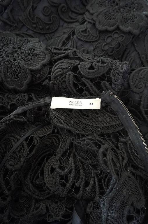 F/W 2008 Prada Runway Wait Listed Black Lace Dress For Sale 6