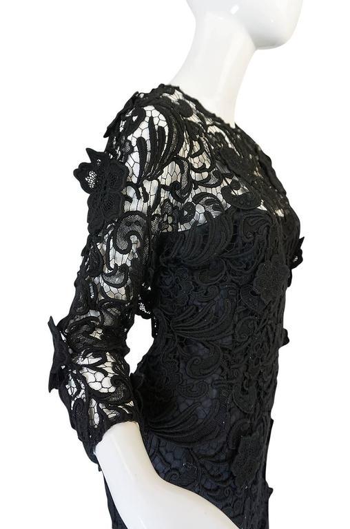 F/W 2008 Prada Runway Wait Listed Black Lace Dress For Sale 4
