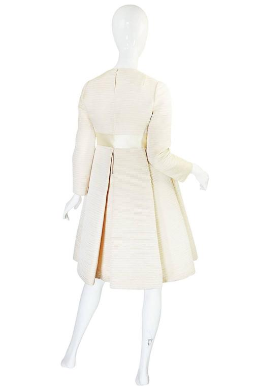 1960s Couture Gustave Tassell Pleated Silk Dress 2