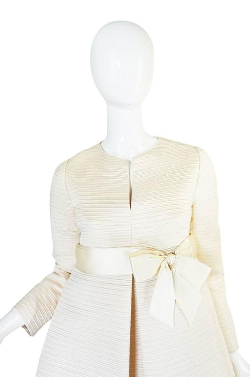 1960s Couture Gustave Tassell Pleated Silk Dress 5