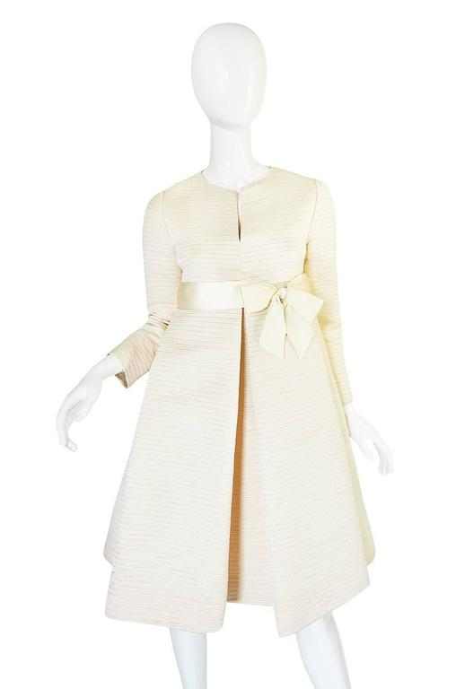 1960s Couture Gustave Tassell Pleated Silk Dress 3