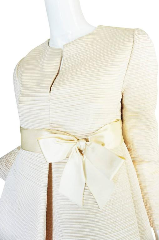 1960s Couture Gustave Tassell Pleated Silk Dress 8