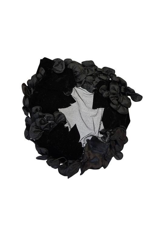 1950s Rare Hubert de Givenchy Couture Silk Hat 4
