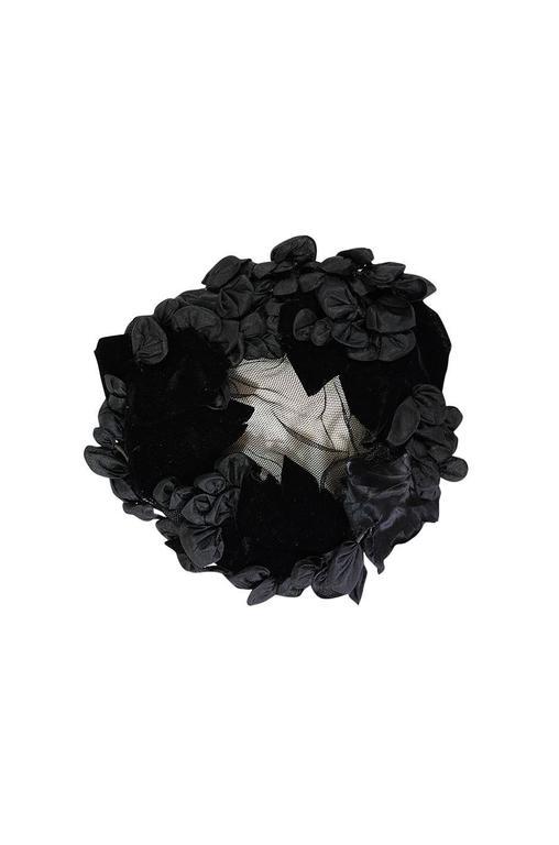 1950s Rare Hubert de Givenchy Couture Silk Hat 3