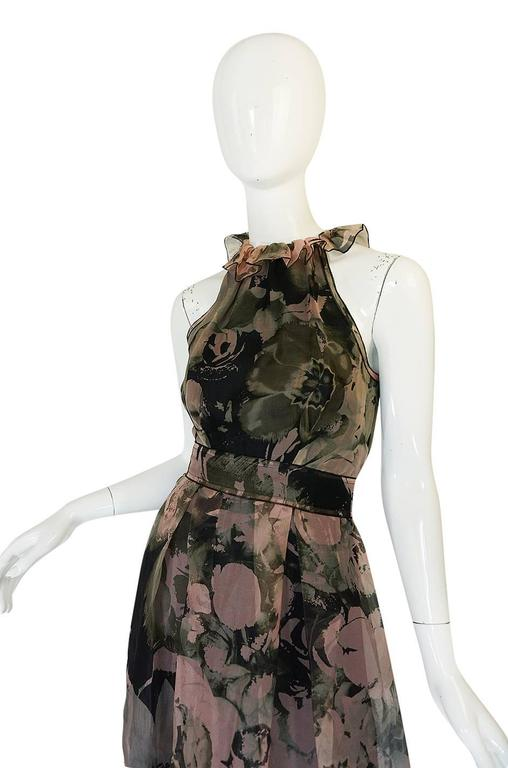 2008 Dolce & Gabbana D&G Silk Organza Halter Dress 5