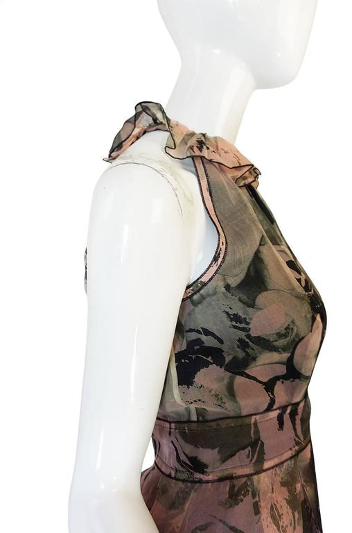 2008 Dolce & Gabbana D&G Silk Organza Halter Dress 7