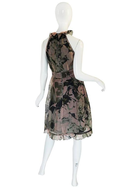 2008 Dolce & Gabbana D&G Silk Organza Halter Dress 2