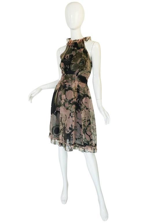 2008 Dolce & Gabbana D&G Silk Organza Halter Dress 3