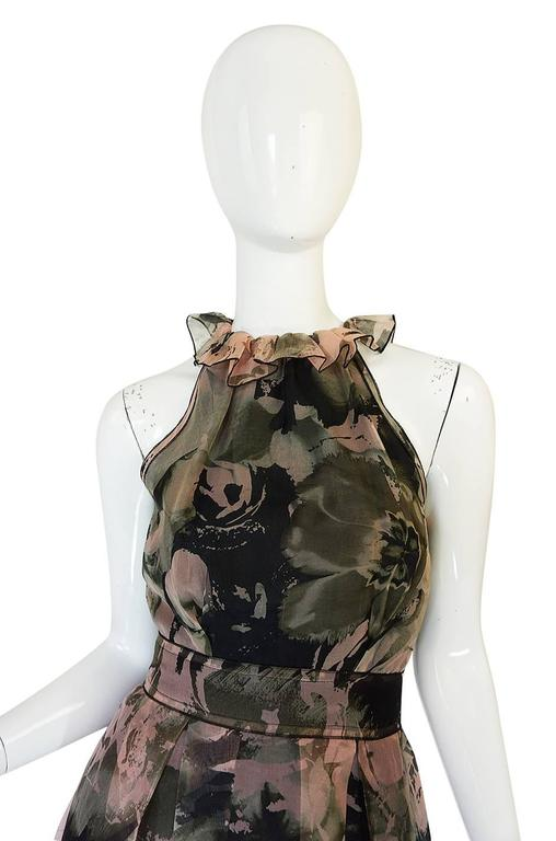 2008 Dolce & Gabbana D&G Silk Organza Halter Dress 4