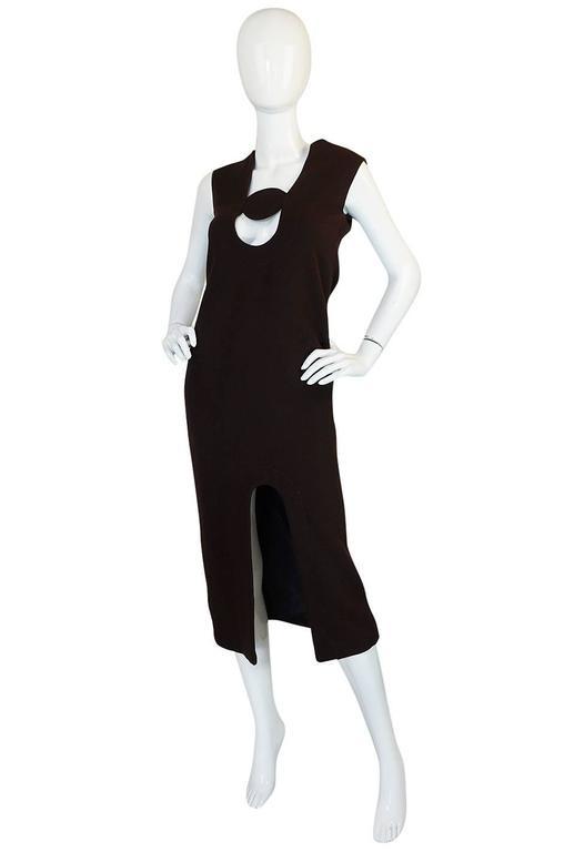 1969-1970 Haute Couture Pierre Cardin Cut Out Dress 3