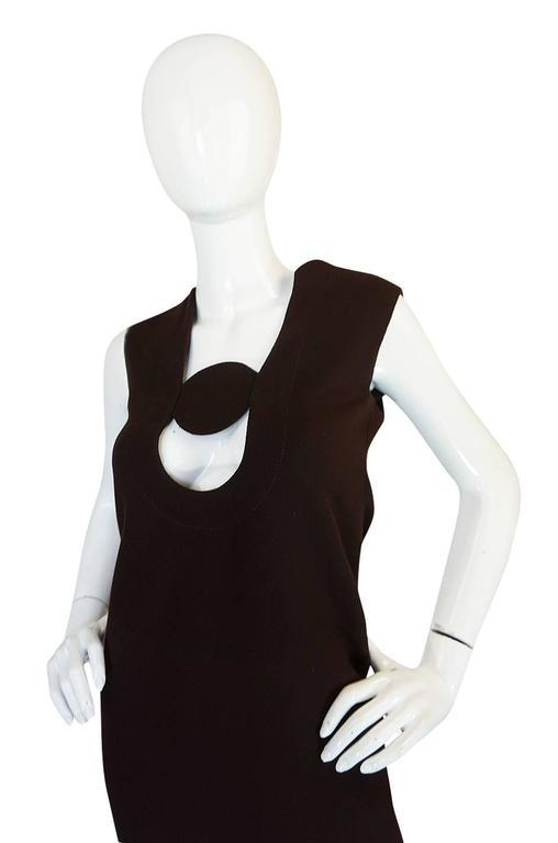 1969-1970 Haute Couture Pierre Cardin Cut Out Dress 4