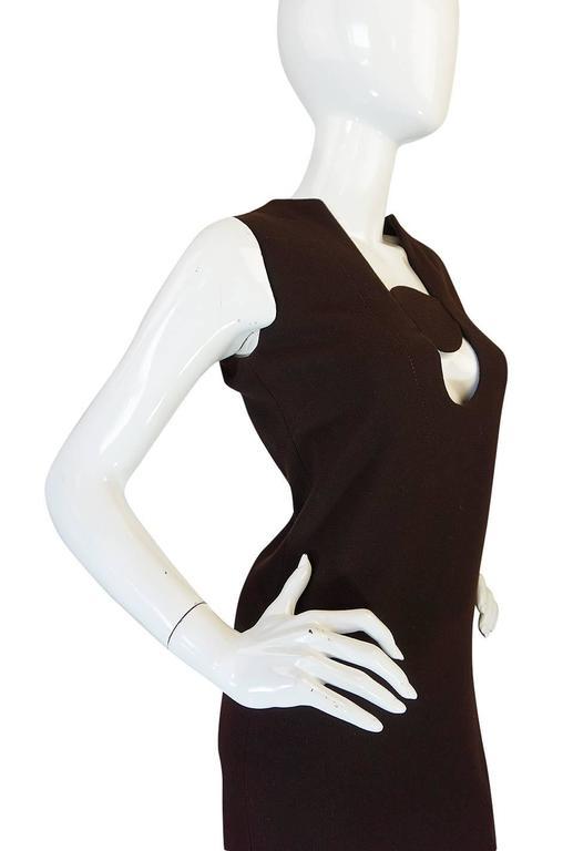 1969-1970 Haute Couture Pierre Cardin Cut Out Dress 5