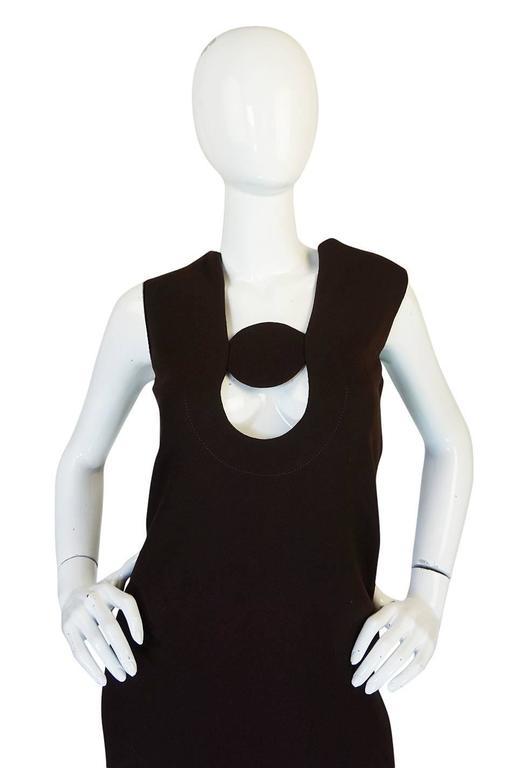1969-1970 Haute Couture Pierre Cardin Cut Out Dress 7