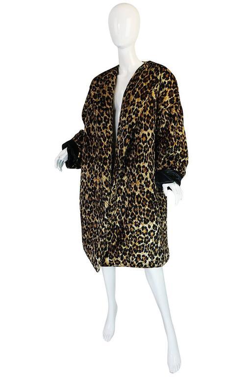 1980s Patrick Kelly Leopard Print Sleeping Blanket Coat 3