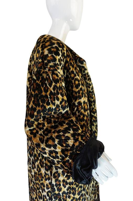 1980s Patrick Kelly Leopard Print Sleeping Blanket Coat 6