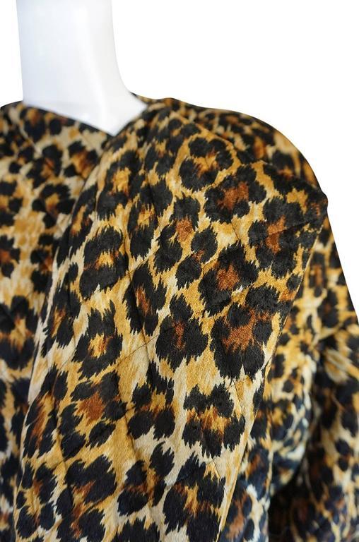 1980s Patrick Kelly Leopard Print Sleeping Blanket Coat 7