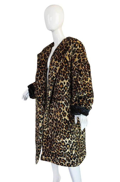 1980s Patrick Kelly Leopard Print Sleeping Blanket Coat 5