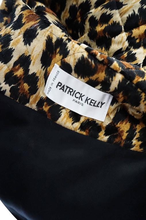 1980s Patrick Kelly Leopard Print Sleeping Blanket Coat 8