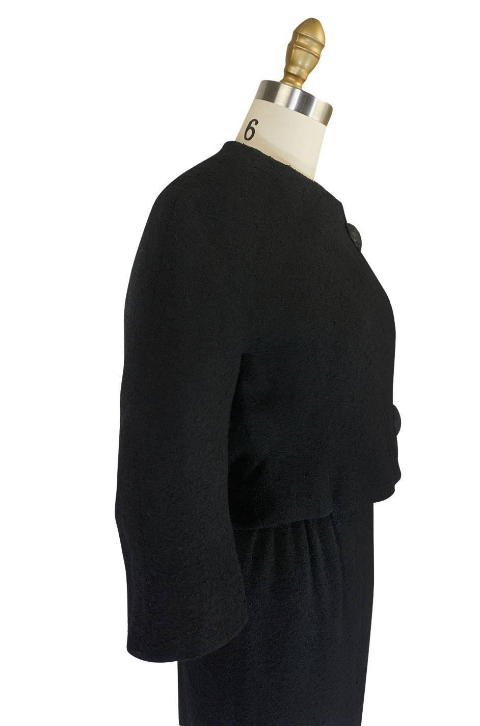 C1957 black cristobal balenciaga haute couture suit for for Haute couture suits