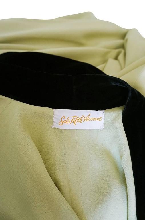 Documented 1950s Yma Sumac's Sophie Gimbel Silk Evening Coat Robe For Sale 2