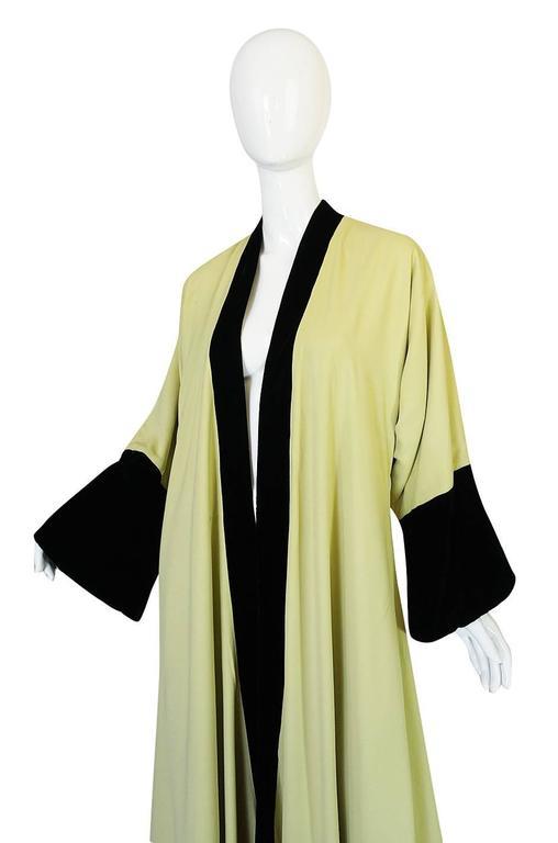 Documented 1950s Yma Sumac's Sophie Gimbel Silk Evening Coat Robe For Sale 1