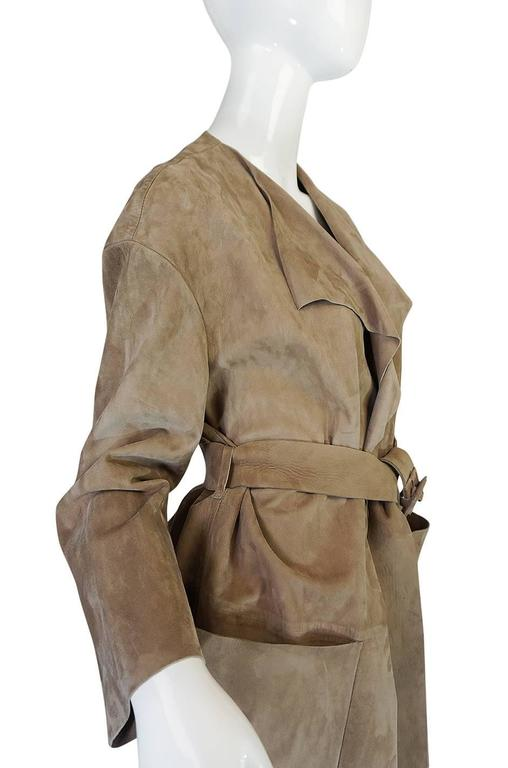 Spring 2014 Burberry Prosum Butter Soft Suede Runway Coat 6