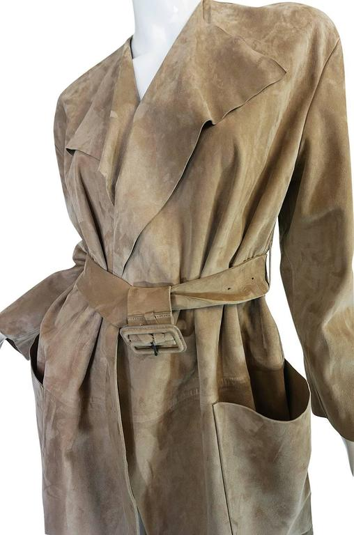 Spring 2014 Burberry Prosum Butter Soft Suede Runway Coat 8