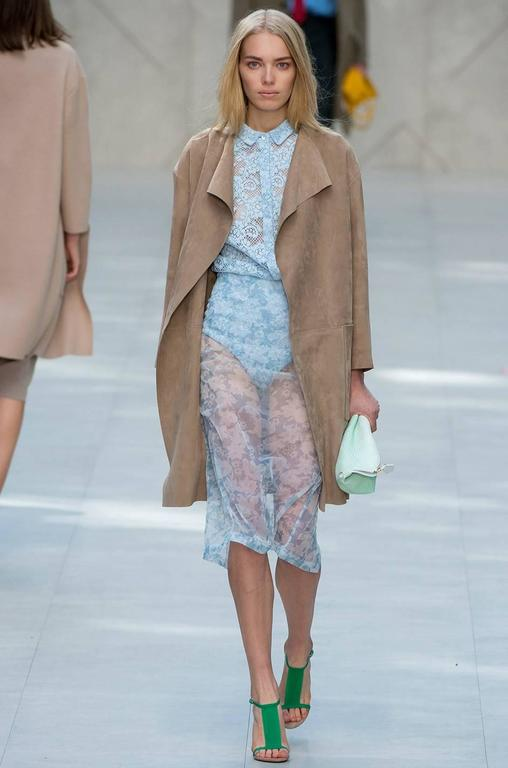 Spring 2014 Burberry Prosum Butter Soft Suede Runway Coat 10