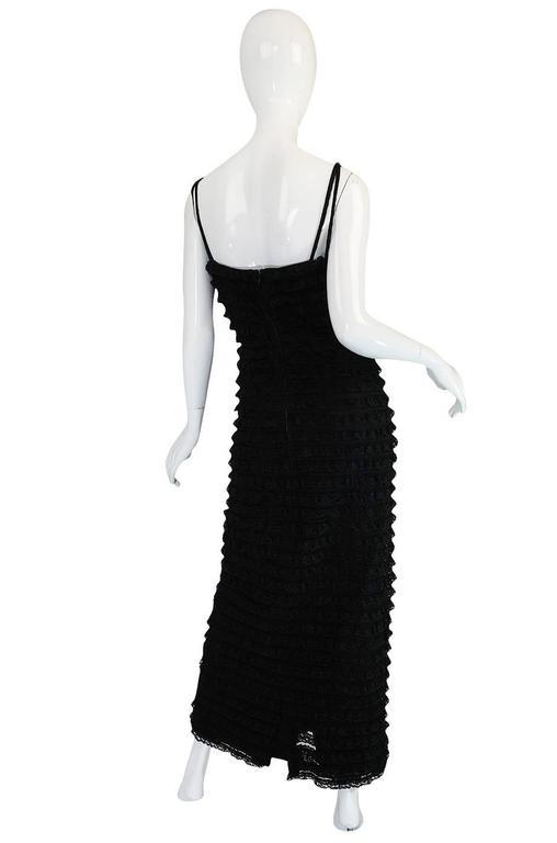 1960s Black Lace & Net Simonetta Sheath Dress & Cape For Sale 1