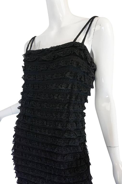 1960s Black Lace & Net Simonetta Sheath Dress & Cape For Sale 4