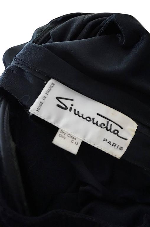 1960s Black Lace & Net Simonetta Sheath Dress & Cape For Sale 6