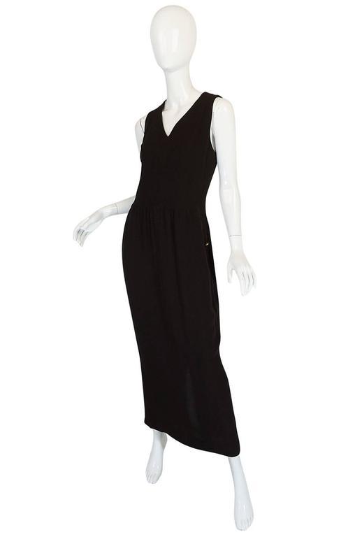 Chic 1990s Chanel Woven Silk Crepe Sleeveless Dress 3